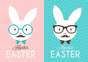 Free Hipster Ostern Kaninchen vektor