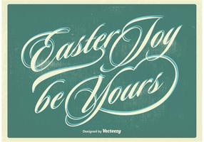 Typografische Ostern Poster Vektor