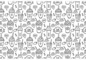 Free Iced Kaffee Nahtlose Muster Vektor