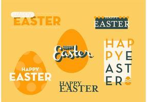 Fröhliche Ostern Vektor Grafik Set