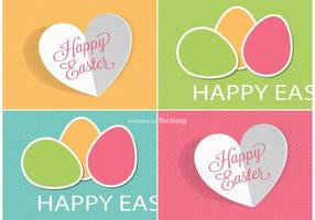 Nette Ostern Etiketten Vektoren