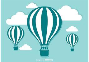 Varmluftsballong vektor illustration