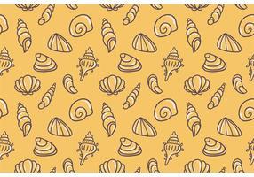 Gelb Freies Pearl Shell Vektor Muster