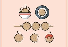 Köttboll minimal platt design vektor fri
