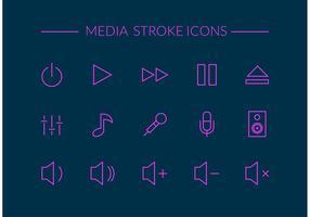 Gratis Media Stroke Vector Ikoner