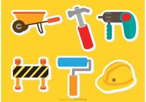 Architektur Werkzeuge Aufkleber Vektoren