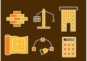 Architektur und Bau Icons Vektoren