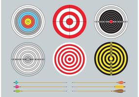 Ziele und Pfeile vektor