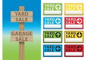 Yard Verkauf Billboard Vektoren