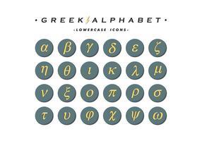 Grekiska Alfabet Ikoner Vector Gratis