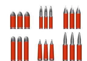 6 Kaliber Schrotflinte Muscheln vektor