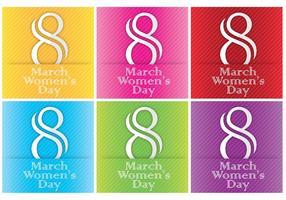Kvinnors dagskortsmall vektorer
