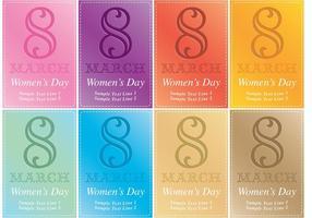 Kvinnors dag kort vektor inbjudningar