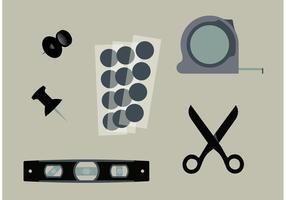 Architektur Werkzeug Vektor Set