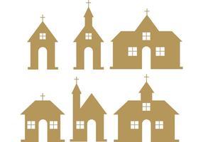 Land Kirche Vektoren