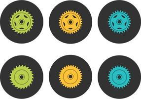 Gratis cykel kedjehjul vektor