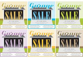 Garage Verkauf Vektor Hintergründe