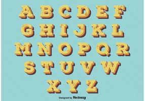 Weinlese-Retro Art-Alphabet
