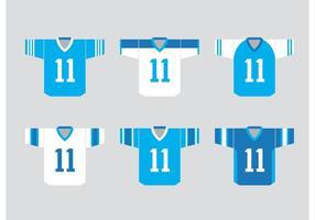 Fotboll Sport Jersey Vektorer