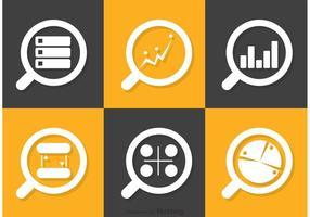 Große Daten-Icons-Vektor-Pack