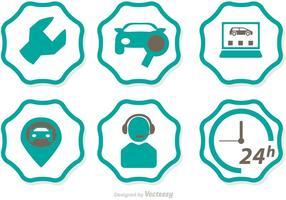 Autohaus Service Icons Vektor
