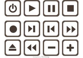 Set med Media Player Button Vector