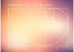 Gratis vektor guldförhållande på suddig bakgrund