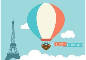 Freier Heißluftballon in Paris-Vektor vektor