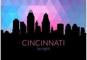 Kostenlose Cincinnati Skyline bei Nacht Vektor