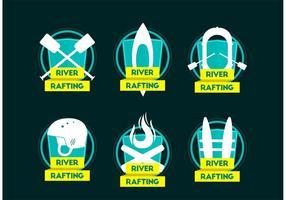 Flod Rafting Team Logo Vektorer