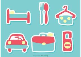 Reisen und Urlaub Icons Vektor