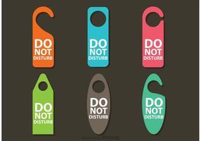 Nicht stören Hanger Vektoren
