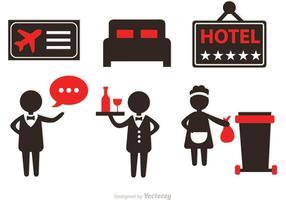 Hotell Service Ikoner Vektorer