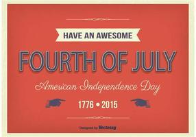 Typografisk affisch för självständighetsdagen vektor