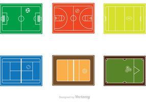 Sportdomstolar vektor