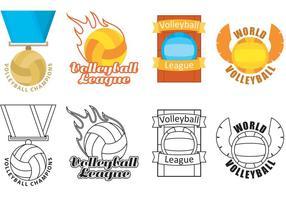 Volleyboll Logo Vektorer