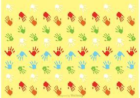 Kind Handabdruck Muster Vektor