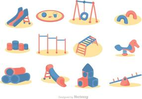 Cartoon Spielplatz Icon Vector Pack