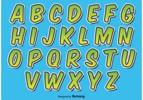 Comic-Stil Alphabet vektor