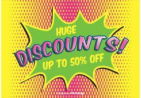 Comic Style Discount Hintergrund