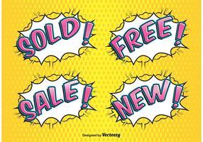 Comic Style Verkauf Etiketten