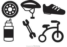 Fahrrad-Ikonen-Vektoren vektor