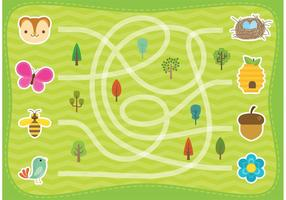 Wald-Labyrinth-Vektor