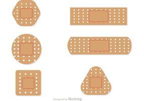 Set von Bandaids Vektoren