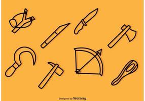 Waffe Outline Icons Vektoren