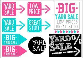 Yard Verkauf Vector Banner Set