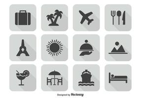 Travel icon set vektor