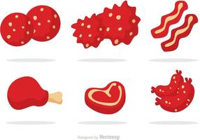 Köttprodukter vektorer