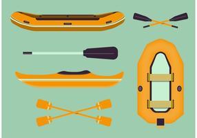 River Rafting Vektor Set