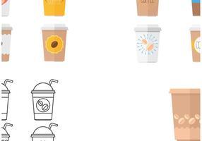 Plastik Kaffeetasse Vektoren